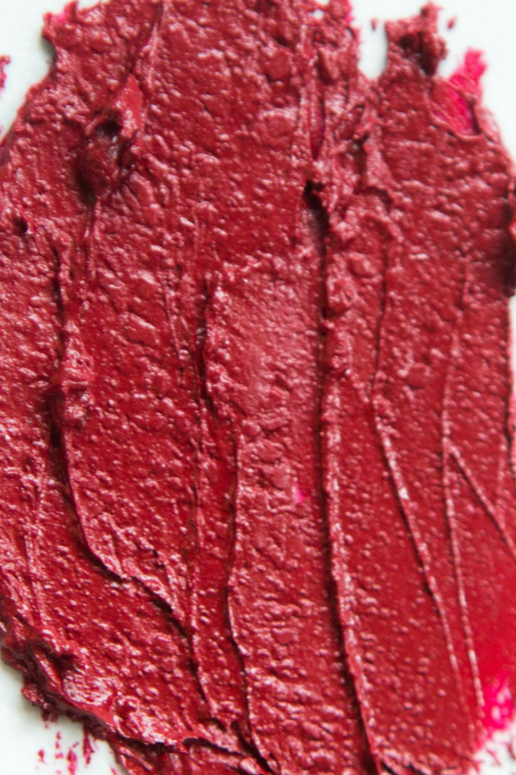Aromi Flirty Lipstick Swatch | Dark Red