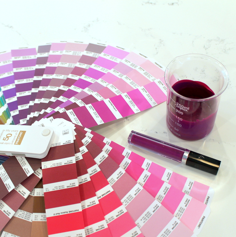 Color matching for a new Aromi liquid lipstick with the use of pantones