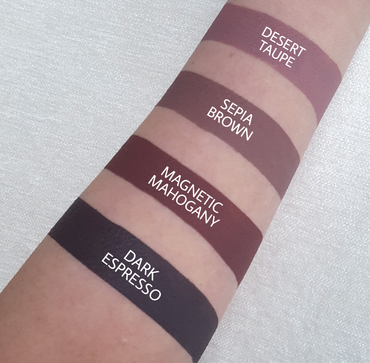 Brown Liquid Lipstick Swatches