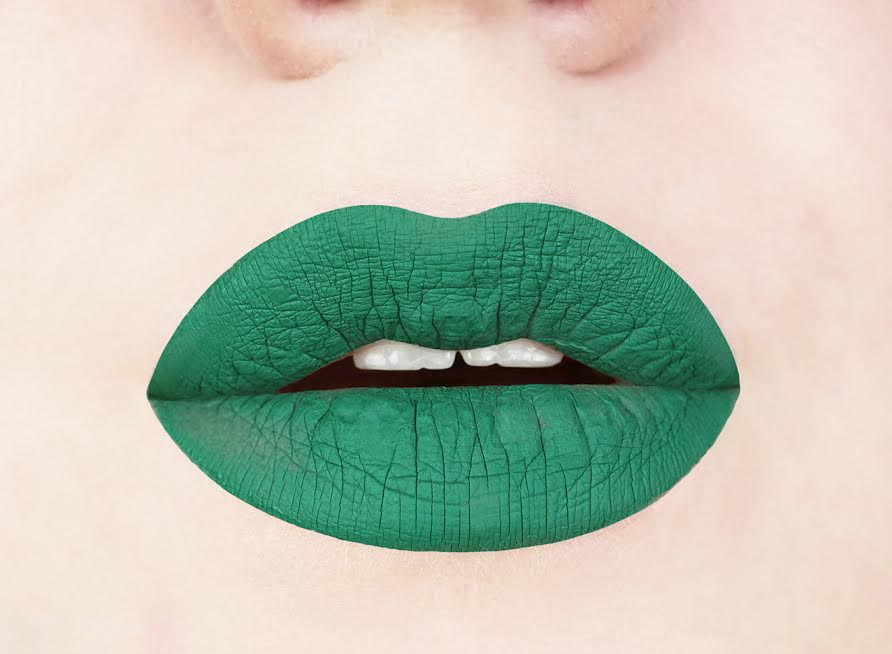 Aromi Beauty Emerald Green Liquid-to-Matte Lipstick