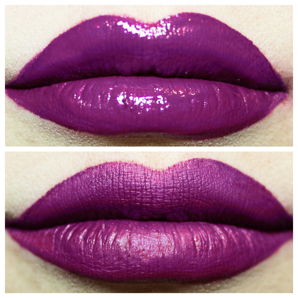 Aromi Beauty matte liquid lipstick in vamptastic plum