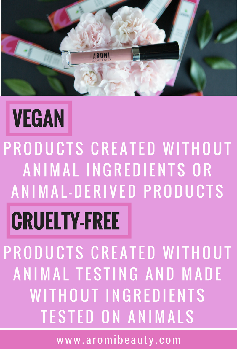 Vegan and Cruelty-free definitions - Aromi Beauty offers vegan and cruelty-free cosmetics